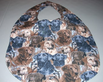 Lab Retrievers - Dogs -  Adult Size Bib / Clothing Protector - Reversible