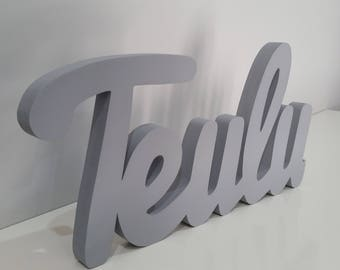 Wood Letters Wood Word Sign Teulu Welsh Decor Home Decor Family Wooden Letters Wall Art Wooden Words Word Art