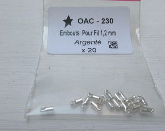 Tips for wire 1.2 mm silver x 20