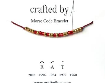 Chinese Zodiac Morse Code Bracelet   Secret message bracelet