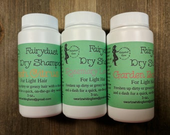 All Natural Dry Shampoo- Hair Wash On The Go