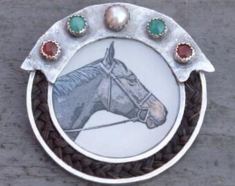 Custom Horse Jewelry Necklace Pendant Brooch Earrings Bracelet