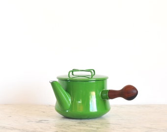 RESERVED  Vintage Dansk Kobenstyle Green Tea Pot Mid Century Denmark Hard to Find