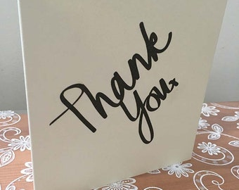 Thank You - Square Greeting Card