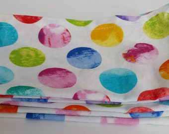 Large Cloth Napkins, Set of Four - Watercolor Dots // Everyday Napkins // Family Napkins // Eco Friendly // Hostess Gift // Housewarming