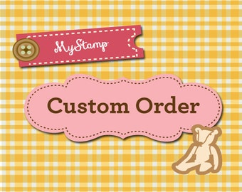 """Custom Order of a SMALL pre-inked stamp (2.1x0.8"""" max.)"""