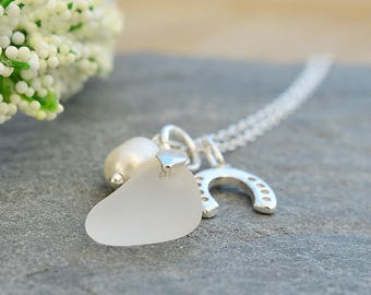 Beach Bride Jewelry, Sea Glass Necklace, Beach Bride, Bridal Necklace, Beach Wedding Necklace, Sea Glass Wedding, Wedding Necklace Simple