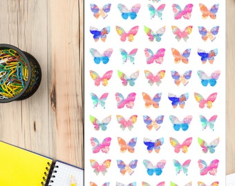 Watercolour Butterfly Planner Stickers | Hand-Painted Butterflies | Watercolour Stickers | Butterfly Stickers | Ombre Stickers (S-057)