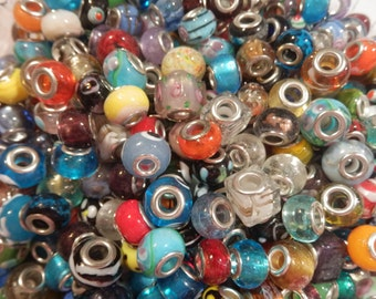 100 Handmade Lampwork Beads Mixed Colors & Patterns New