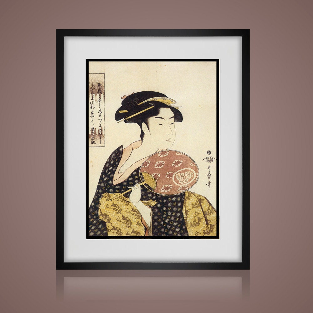 Super 3 Piece Wall Art - VINTAGE JAPANESE PRINTS -Matted And Framed  ZI79