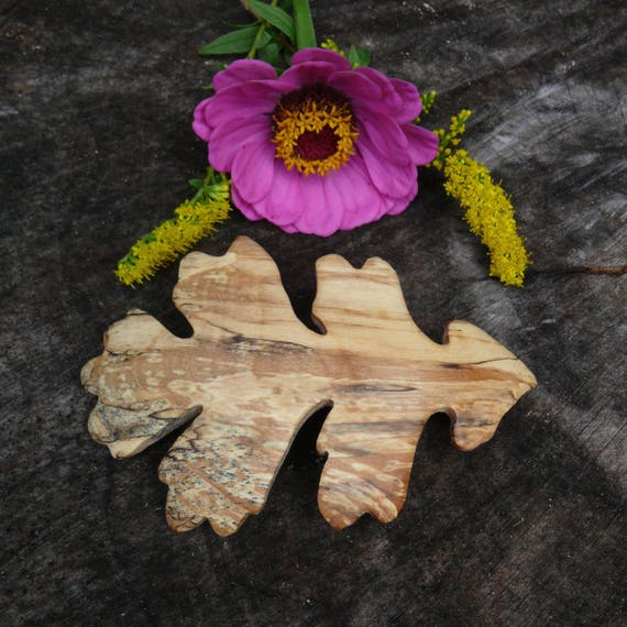 Oak leaf hair barrette, Thick Hair clip, Nature lover gift, 5th anniversary wood gift, Boho wedding hair piece, 90mm French barrette clasp