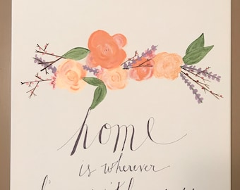"Home Is Wherever I'm With You 16""x20"" Canvas"