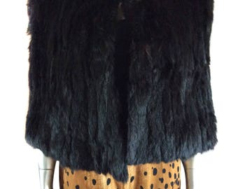 Vintage Structured Fur Cape