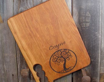 Name Engraved Cutting Board, Custom Hardwood Cutting Board, add family name, business logo, dates, reclaimed Texas Pecan or Mesquite
