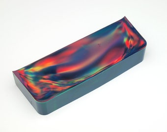 Aurora Opal - New Opal (121.20 g), Rough Opal, Multicolored Opal for Opal Jewellery or Opal Inlays (Lab Created Opal, Orange Opal)