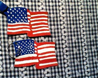 Key Chain, American Flag