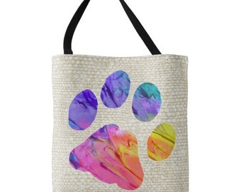 Paw Print Tote Bag - Dog Lover Bag B2 - Cat Lover Gift - Paw Print - Cat Lover Tote - Cat Tote Bag - Gifts for Dog Lovers -