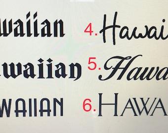 Hawaiian Decals   Car, laptop, notebook, window