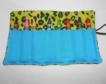 Pebbles inspired crayon roll up 8 count either regular or jumbo crayons