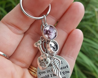 Pet Loss Gift / Pet Memorial Keychain / Dog Memorial Keyring / Dog Loss Gift / Memorial Keyring / Pet Memorial Keychain / Pet Loss Keychain