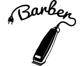 barber shop tools etsy rh etsy com barber clip art scissors clipart barbe