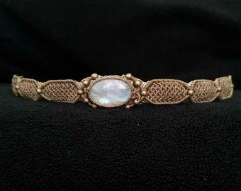 Unique Macrame Choker Necklace Jewelry M0146