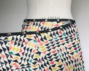 Pocket Skirt, Snap Skirt, Adjustable Wrap Skirt, Erin MacLeod, vacation skirt, cute skirt, phone pocket, colorful summer cotton skirt, plus