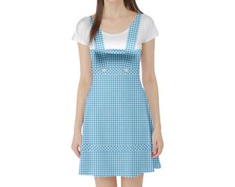 Dorothy Wizard of Oz Inspired Short Sleeve Skater Dress