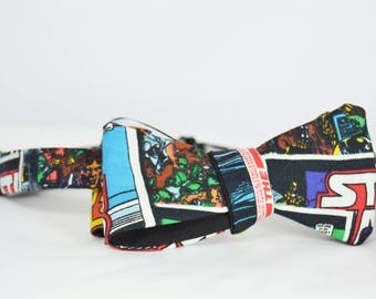 Set of Bowtie Stat Wars and scarf for lapel, handmade.