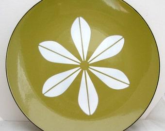 "CATHRINEHOLM MCM Cathrine Catherine Holm 12"" Enamel Lotus Plate  Platter Charger Mid Century"