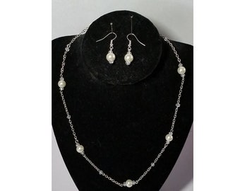 Pearl Crystal Jewelry Set
