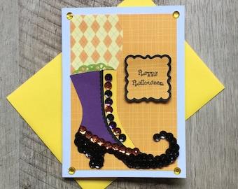 Handmade Halloween Card ~ Die-Cut Handmade Embellishments ~ Witch