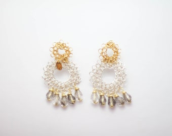Silver Gold Earrings Casual Classy for contemporary women