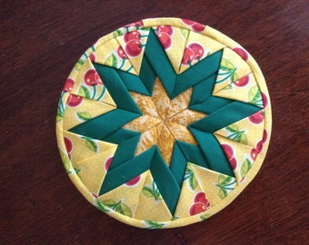 Folded Star Trivet, Hot Pad, Potholder