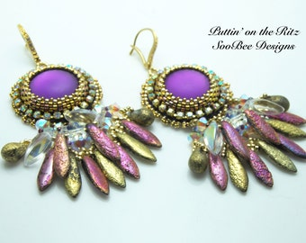 TUTORIAL ONLY - Puttin' On the Ritz Bead Embroidery Earring