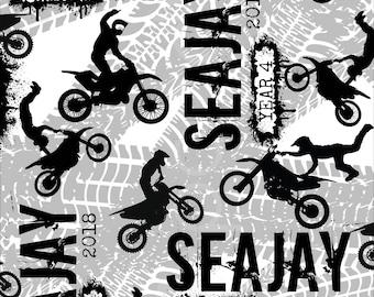 Motorbike/Motocross/Dirt Bike custom printable school book covers/Back to school supplies