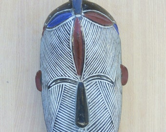 Basagu whistle wooden mask,Traditional mask,kenya wooden mask, Antique mask, Old traditional mask, Africa wooden mask, wooden mask
