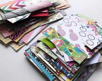 Assorted Paper Packs // 100 Pieces // Scrapbook Paper // Paper Crafting // Scrapbook Paper Packs // Patterned Paper Pack // Grab Bag