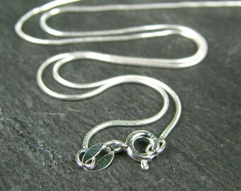16 Inch Sterling Silver Snake Chain Necklace