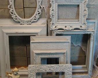 Large Frame Collection - Nursery Frames - Wedding Frames - Paris Gray Chalk Paint - Farmhouse Frames -  Chalk Paint and Distressed Frames
