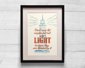 Lighthouse Quote Poster Print