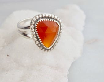 Carnelian Ring - Size 8 1/4