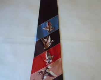 Stunning 1940s Duck Satin Swing Tie