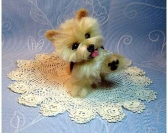 Needle felted dog Custom Norwich Terrier  pet sculpture art felted