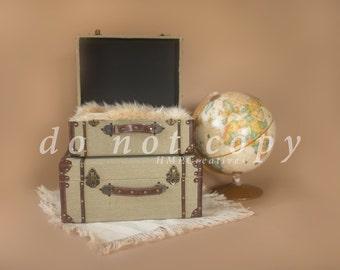 Travel & Luggage Newborn Digital Backdrop