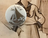 Vintage Boat Glass Button...