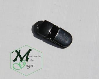 Mini Clip pacifier clip, black.