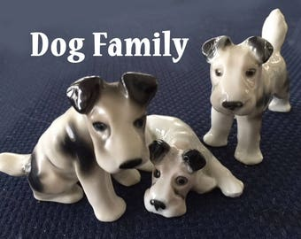 Vintage DOG FIGURINES - Germany