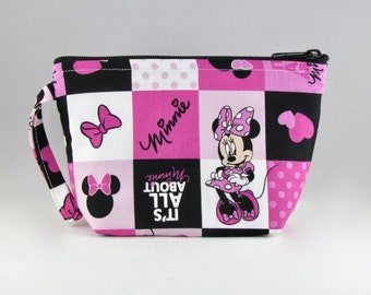 All Minnie Makeup Bag - Accessory - Cosmetic Bag - Pouch - Toiletry Bag - Gift