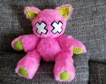 "Emo-Kitty ""Kizzy"" // Cat Plush Toy // Hot Pink"